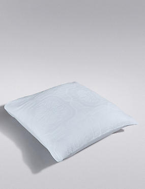 2 Felicity Matelassé Square Pillowcases, WHITE, catlanding