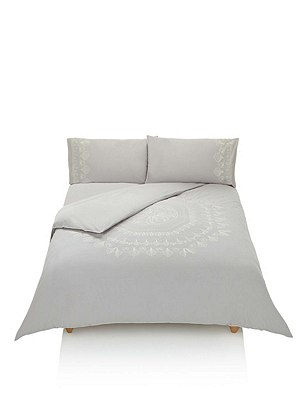 Embroidered Bedding Set, GREY MIX, catlanding