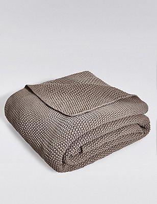 Plaid tricoté, TAUPE, catlanding