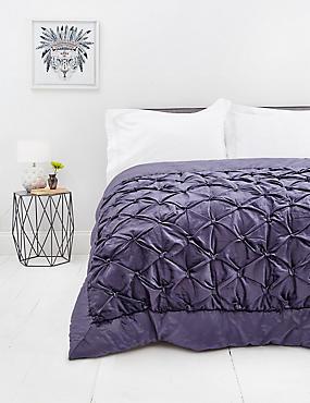 Velvet Pinch Bedspread, PURPLE, catlanding
