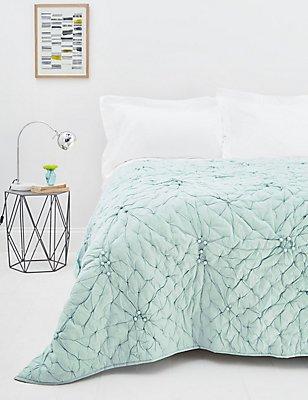 Bobble Bedspread, DUCK EGG, catlanding