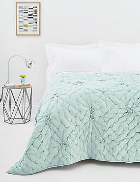 Dessus de lit à pompons, GRIS-BLEU, catlanding