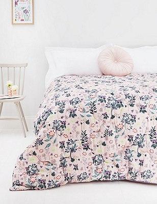 Tilly Floral Eiderdown Bedspread, , catlanding