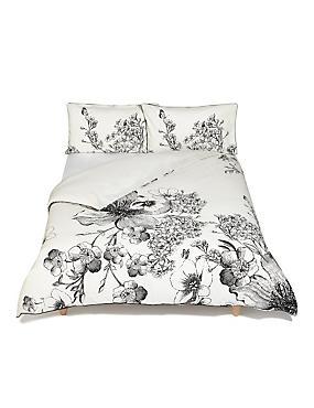 Abigail Floral Bedding Set, BLACK MIX, catlanding
