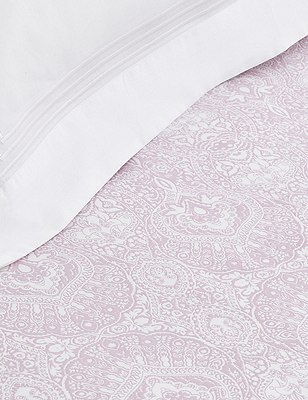 Paisley Print Fitted Sheet, LILAC MIX, catlanding