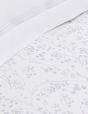 Floral Fitted Sheet, LILAC MIX, catlanding