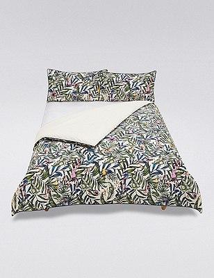 Kiera Tropical Bird Print Bedding Set, MULTI, catlanding