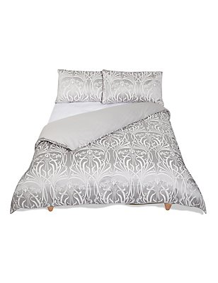 Elizabeth Jacquard Bedding Set, GREY, catlanding