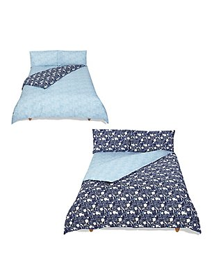 Bed in a Bag Bedding Set, NAVY MIX, catlanding
