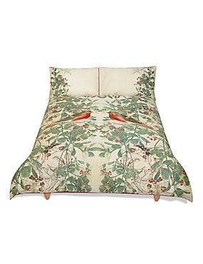 Eden Print & Embroidered Bedding Set, NATURAL MIX, catlanding