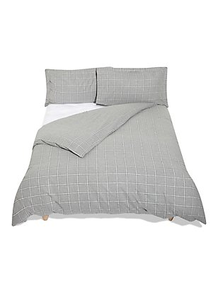 Dawson Check Grey Bedding Set, GREY MIX, catlanding