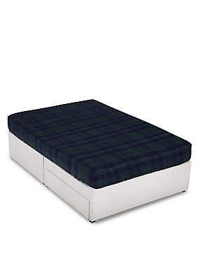 Dalton Checked Fitted Sheet, NAVY MIX, catlanding