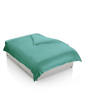 Edler Bettbezug aus reinem Supima®-Baumwollsatin (Fadenzahl 750), PASTELLTÜRKIS, catlanding