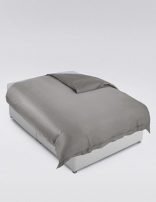 Supima® Cotton Duvet Cover, PEWTER, catlanding