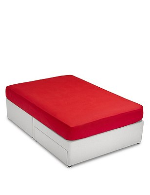 Brushed Fitted Sheet, BERRY RED, catlanding