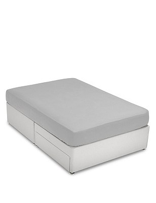 Brushed Fitted Sheet, GREY, catlanding