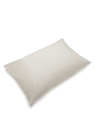 2 Brushed Housewife Pillowcases, CREAM, catlanding