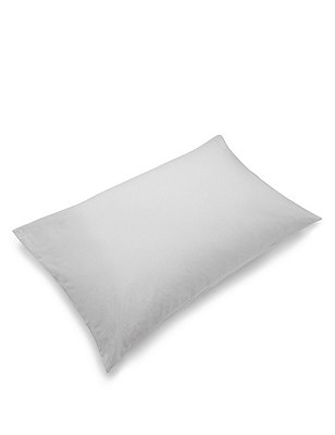2 Brushed Housewife Pillowcases, GREY, catlanding