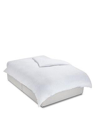 Cotton Jersey Duvet Cover, WHITE, catlanding