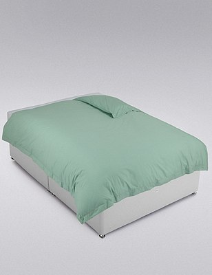 Egyptian Cotton Duvet Cover, SPEARMINT, catlanding