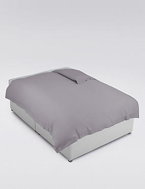 Pure Egyptian Cotton 400 Thread Count Duvet Cover , ASH GREY, catlanding