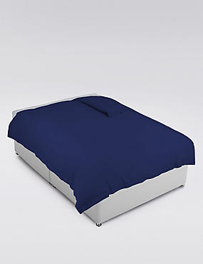 Pure Egyptian Cotton 400 Thread Count Duvet Cover , FRENCH NAVY, catlanding