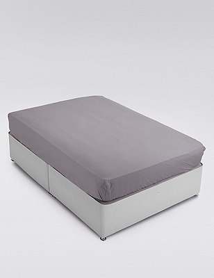 Pure Egyptian Cotton 400 Thread Count Deeper Fitted Sheet, ASH GREY, catlanding