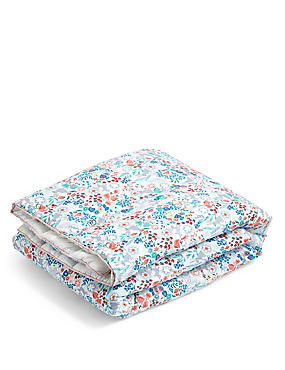 Floral Bunny Coverlet, , catlanding