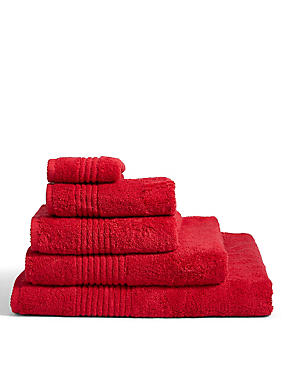 Luxury Egyptian Cotton Towel, CRANBERRY, catlanding