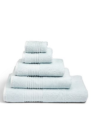Luxury Egyptian Cotton Towel, LIGHT DUCK EGG, catlanding