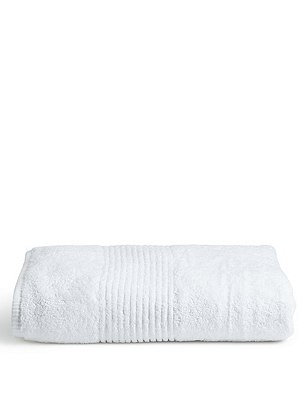 Jumbo Luxury Egyptian Towel, WHITE, catlanding