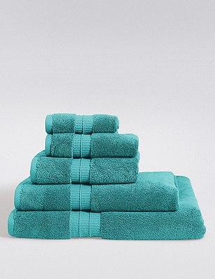 Supima® Cotton Towels, TEAL, catlanding