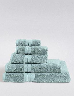 Supima® Cotton Towels, LIGHT DUCK EGG, catlanding