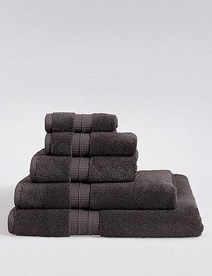 Supima® Cotton Towels, CHARCOAL, catlanding
