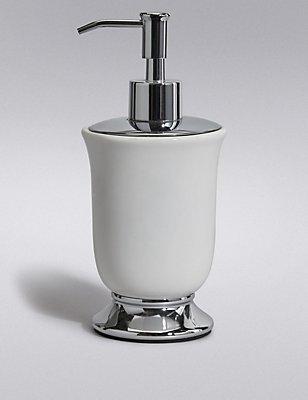 Tulip Soap Dispenser, WHITE, catlanding
