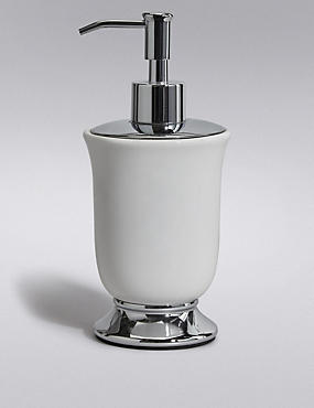 Tulip Soap Dispenser, WHITE, catlanding