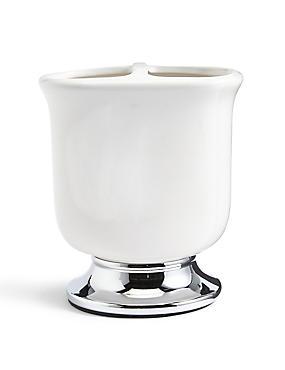 Tulip Toothbrush holder, WHITE, catlanding