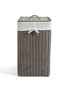 Country Square Laundry Bin, , catlanding