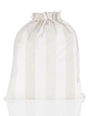 Hadley Stripe Drawstring Laundry Bag, , catlanding