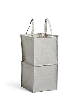 Pop Up Canvas Laundry Bin, , catlanding