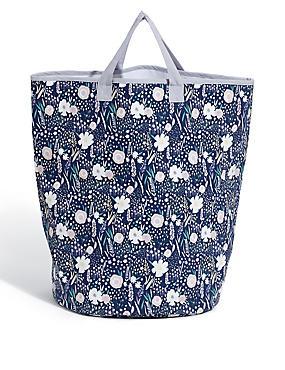 Loft Floral Laundry Bag, , catlanding