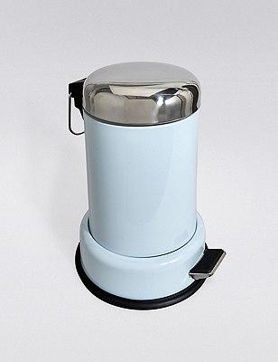 Round Pedal Bin, SOFT BLUE, catlanding