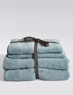 4 Assorted Towels Bale, SOFT BLUE, catlanding