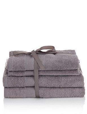 4 Assorted Towels Bale, CHARCOAL, catlanding