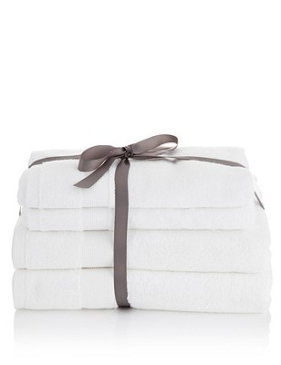4 Assorted Towels Bale, WHITE, catlanding