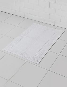 Alfombrilla para baño plana, BLANCO, catlanding