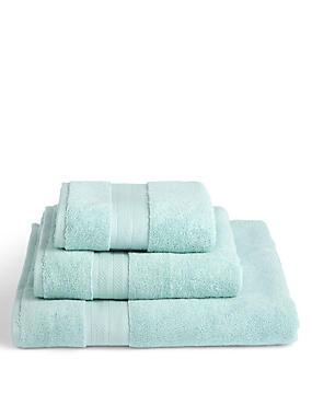 Luxury Turkish Cotton Towel, DUCK EGG, catlanding