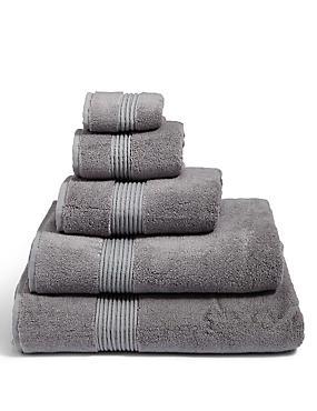 Luxury Cotton Blend Towels  , SMOKE, catlanding