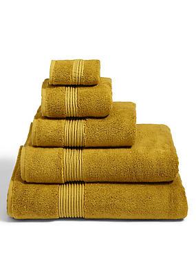 Autograph Modal Towel, OCHRE, catlanding
