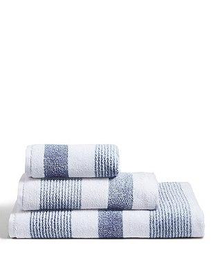 Hadley Striped Towels, SOFT BLUE MIX, catlanding